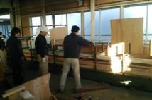 長さ8450mm 丸柱 桧柾貼り