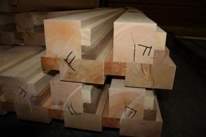 木曽五木の柱 断面